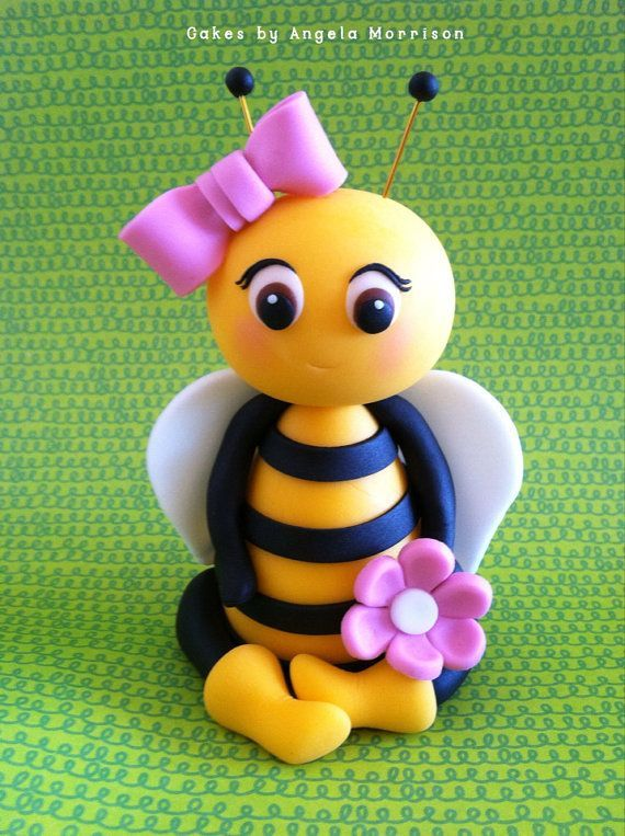Bee cake topper.