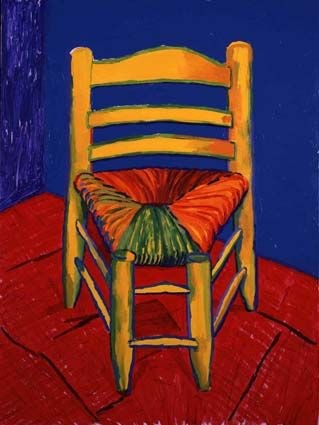 David Hockney - Van Gogh's Chair www.artexperiencenyc.com |Pinned from PinTo for iPad|