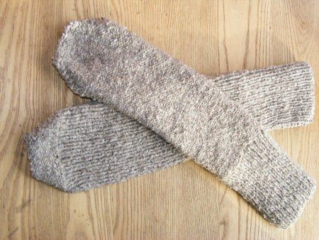 Handwork - While You Wait Take-along Projects - Handwork Easy Peasy Eco-friendly Knitted Tube Socks Tutorial