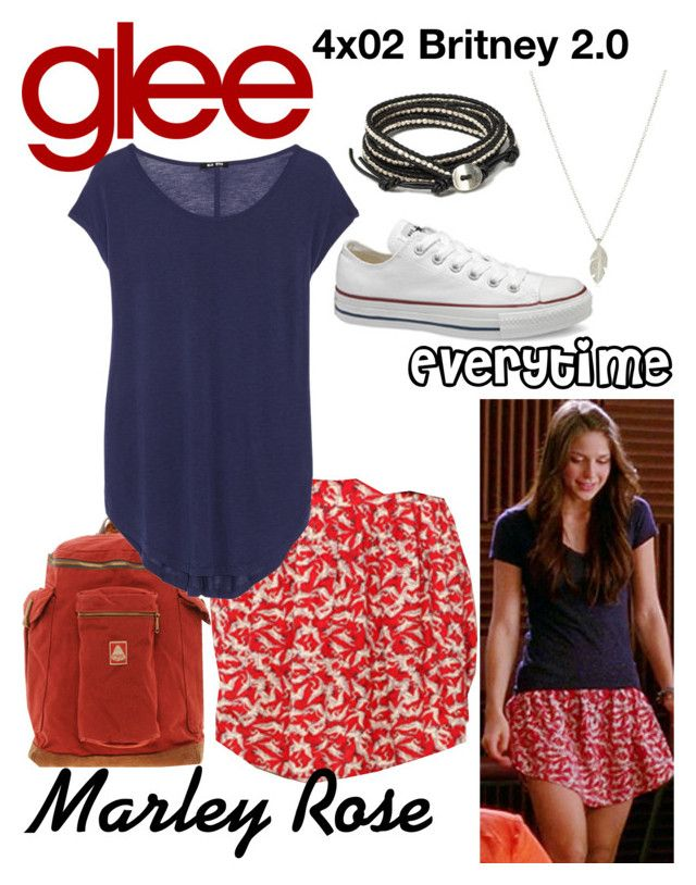 Marley Rose (Glee) : Everytime by aure26 on Polyvore featuring polyvore, fashion, style, BLK DNM, clothing and glee