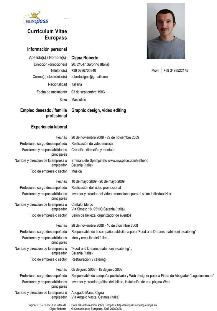 Curriculum Vitae Ejemplos Español Modelo de Curriculum