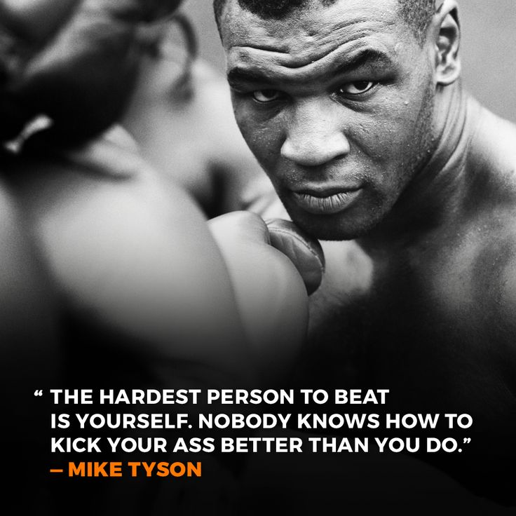 The hardest person to beat is yourself. So true!   #selfmotivation #qotd #inspiring #quote #mike #tyson #kickyourass #motivation #sotrue