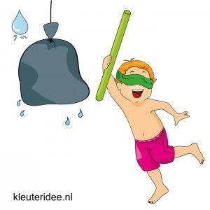 Waterspelletjes voor kleuters, juf Petra van kleuteridee , spel 9, waterpinata