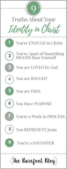 9 truths about your identity in Jesus Christ