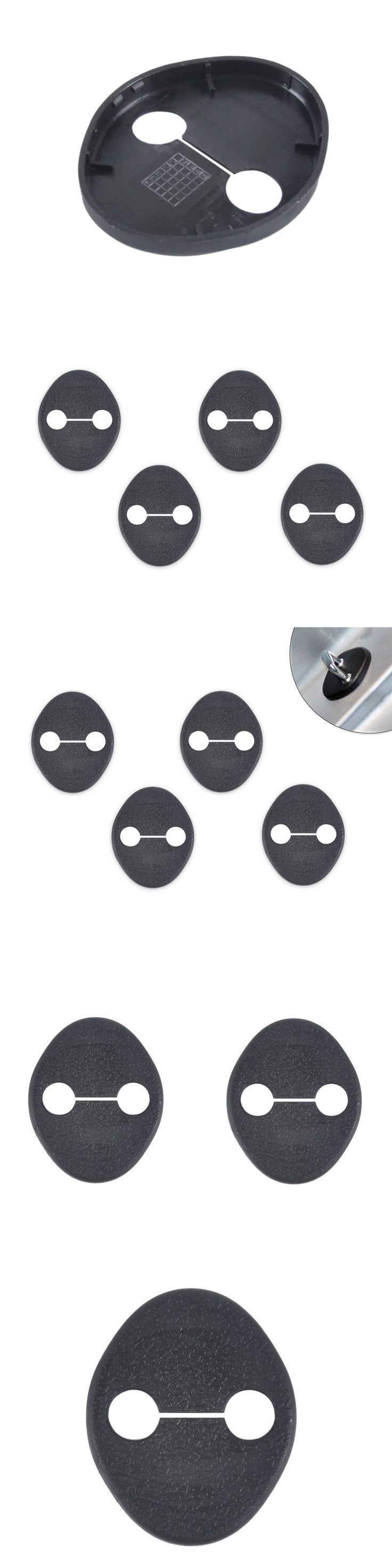 DWCX 4PCS Car Door Striker Cover Lock Protector Case for Hyundai Elantra Sonata 8 IX35 I30 Kia Sportage 2010 2011 2012 2013 +