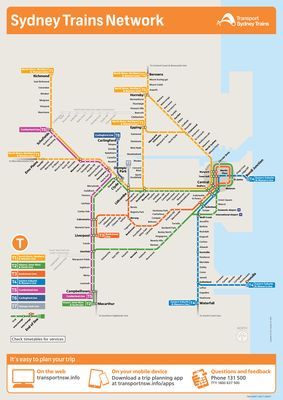 Sydney Trains Network Map | cartography! | Train map, Map, Sydney city