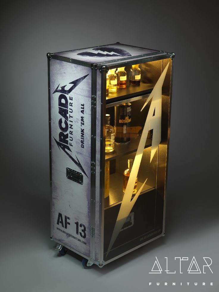 Drink Cabinet made with authentic Adam Hall parts as featured in real life rock flight cases. For more information please visit our webpage.