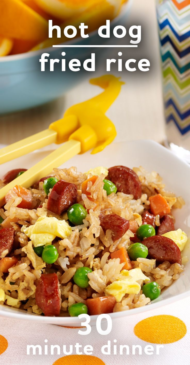 Easy Kid-Friendly Dinner: Hot Dog Fried Rice