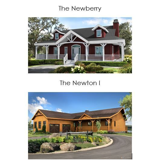 These are two favorites from Timber Block's Ranch Series. Your possibilities are endless when building a Timber Block home! More at www.timberblock.com