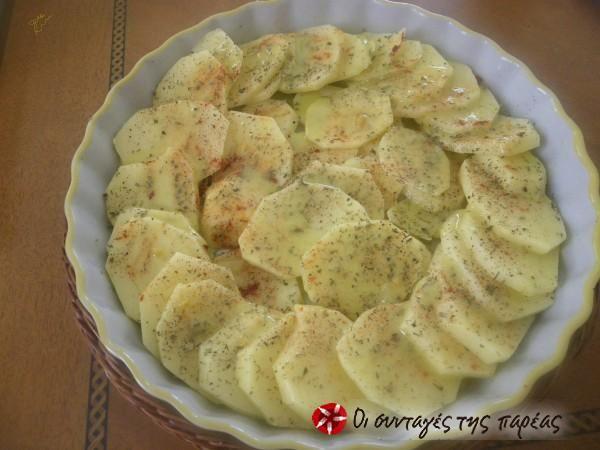 Πατάτες φούρνου με μουστάρδα #sintagespareas