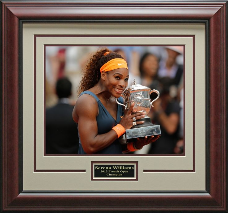 Serena Williams 2013 French Open Champion Framed Photo | Autographed Tennis Memorabilia