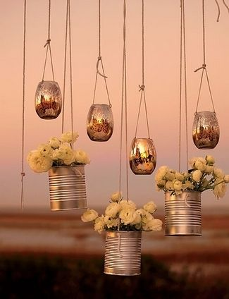 21 DIY Outdoor & Hanging Decor Ideas | Confetti Daydreams - Suspend these DIY Hanging Flower Votives to decorate your wedding altar or reception tent ♥ #DIY #OutdoorDecor #HangingDecor