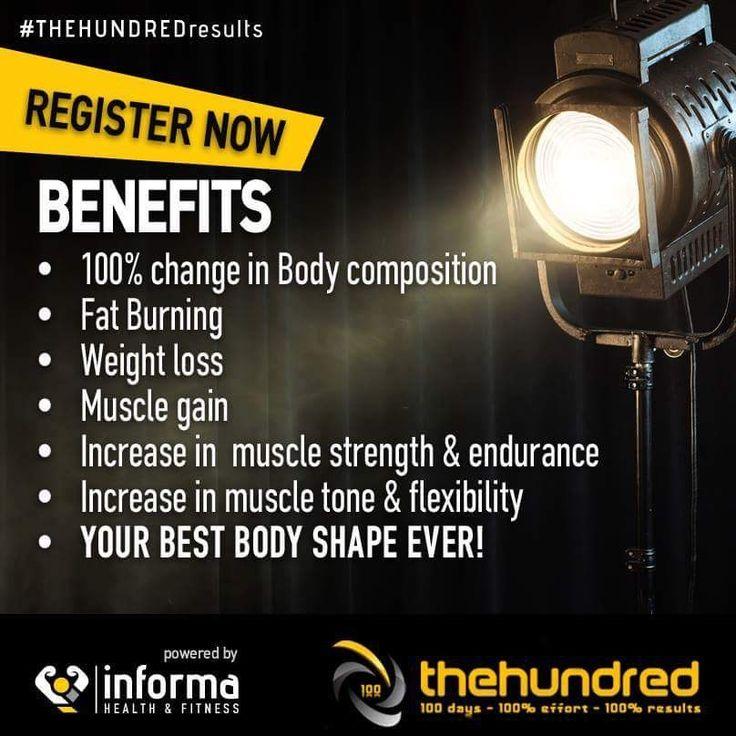 #benefits #thehundredfitness