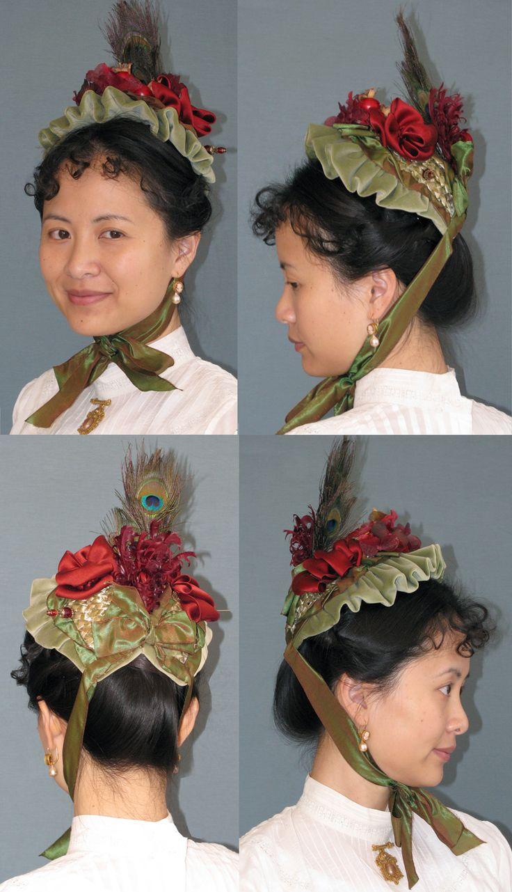 Late Victorian Small Bonnet Pattern. LynnMcMasters Hat Patterns.