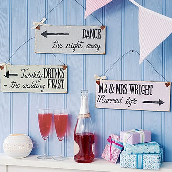Personalised Wedding Direction Sign  by Delightful Living Weddings