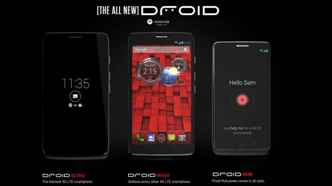 Motorola Droid Mini, Droid Ultra e Droid Maxx in arrivo