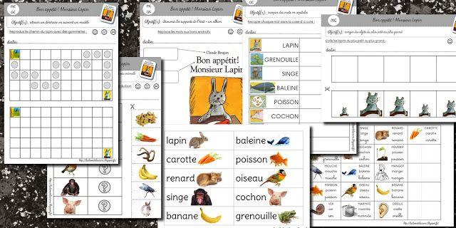 La maternelle de Laurène: Bon Appétit Monsieur Lapin