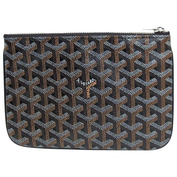 Pre-owned Goyard Small Bag (1,164,130 KRW) ❤ liked on Polyvore featuring men's fashion, men's bags, other and goyard mens bag