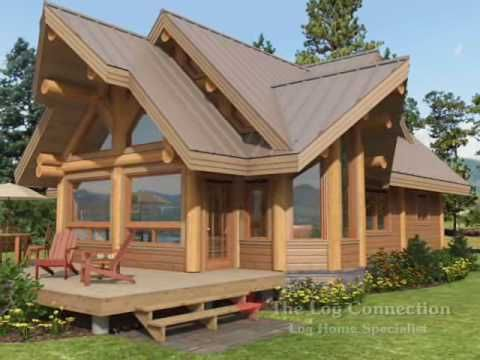 Cascade stacked log home by The Log Connection - YouTube