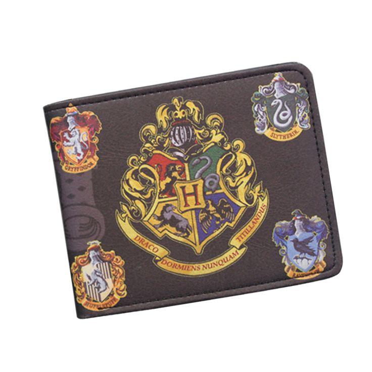ハリー·ポッター財布で小さなファスナーポケット男性財布コインバッグクレジットカードホルダーバッジデザイナー財布のための学生