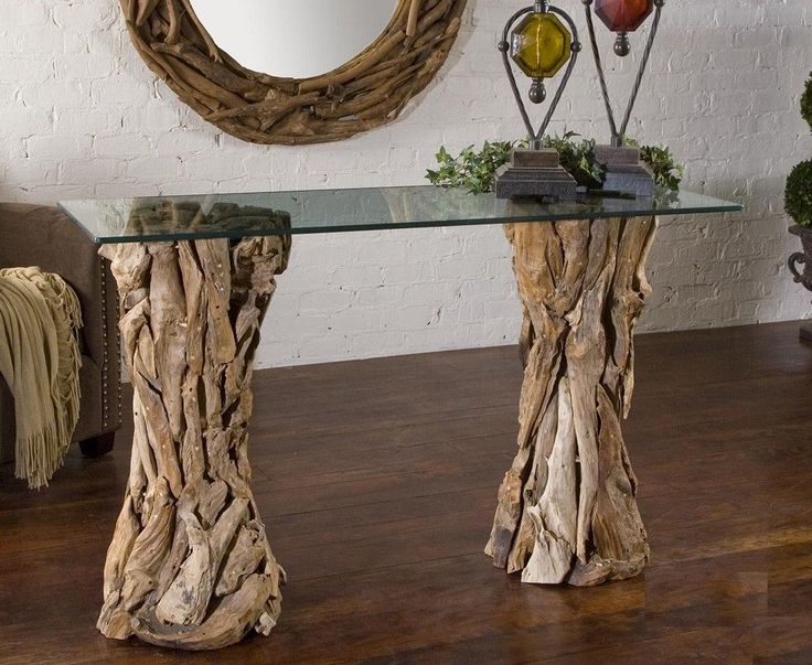 driftwood-console-table-Entry-Traditional-with-driftwood-furniture ...