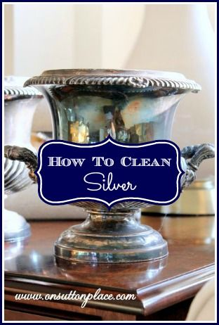 How to Clean Silver the Easy Way! - Place aluminum foil in the bottom of your sink and run HOT water. Add 2 Tbsp of salt in the water and your silver. Leave for 2-3 minutes and the tarnish will be gone. Repeat for badly tarnish or loosly wrap aluminum foil around the silver before putting in the hot water. Larger pieces will require more salt.