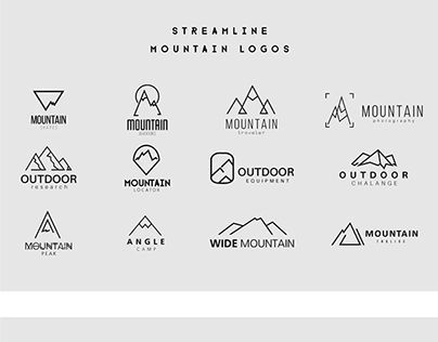Streamline Mountain Logo Templates