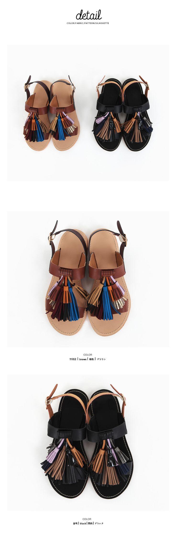 カラフルタッセルサンダルシューズ・靴サンダル|レディースファッション通販 DHOLICディーホリック [ファストファッション 水着 ワンピース]