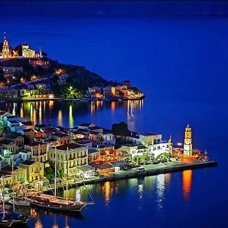 Aerial view of Symi island,Greece