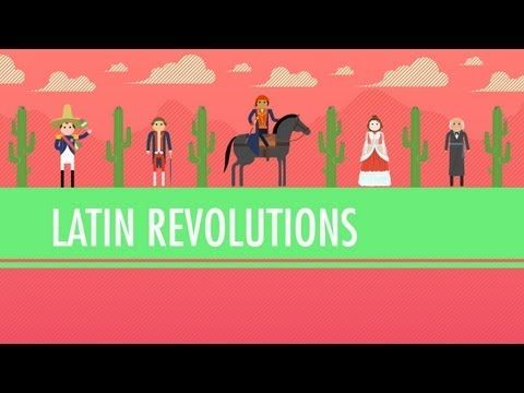 Week 23 - The only reasonably kid-friendly video I found.  Latin American Revolutions: Crash Course World History #31