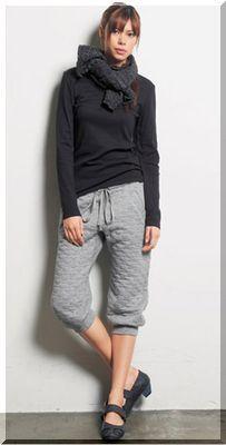 グレーならハズレなし♡サルエルパンツのコーデ☆スタイル・ファッションの参考に♪