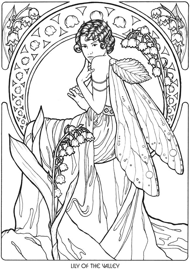 Floral Fairies Coloring Book Lily