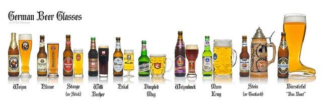 German Beer Glasses by jeffzoet, via Flickr