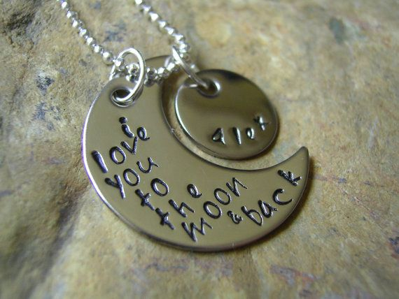 I Love You To The Moon And Back Necklace by KottageKreations, $ 28.00