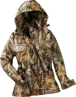 SHE Outdoor Apparel Women's Camo Rain Pack Jacket, Women's Hunting Clothing, Women's Clothing, Clothing : Cabela's $119.99