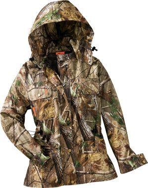 SHE Outdoor Apparel Women's Camo Rain Pack Jacket, Women's Hunting Clothing, Women's Clothing, Clothing : Cabela's $119.99