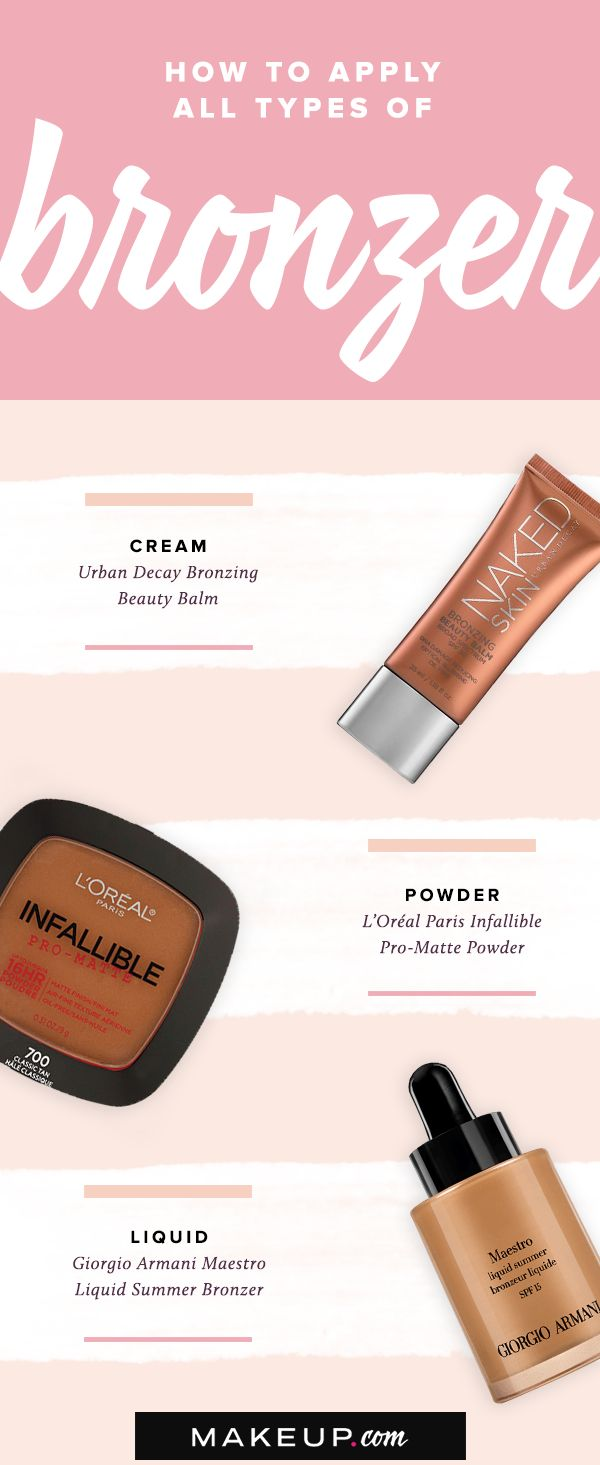 How To Apply All Types Of Bronzer