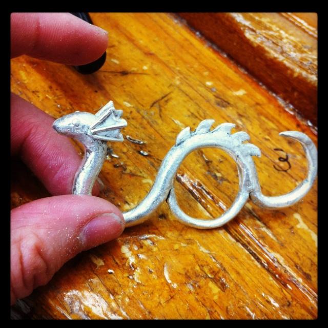 Silver Ogopogo ring