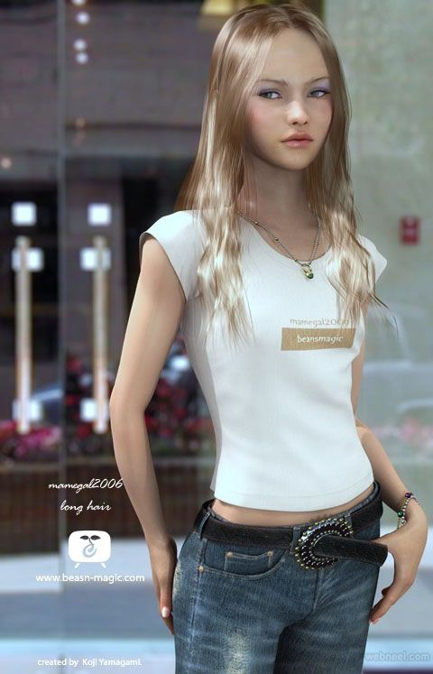50 Beautiful 3D Girls And Cg Girl Models From Top 3D -1839