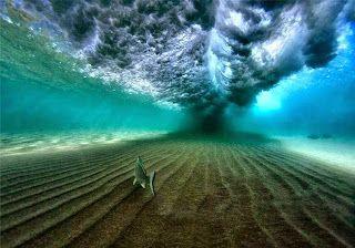 Under a Breaking Wave, Coolum Beach, Queensland, Australia