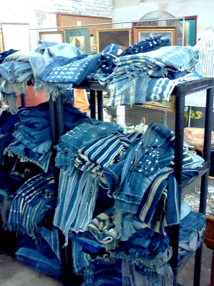 Old Hand Made Indigo African Fabrics At Hell S Kitchen