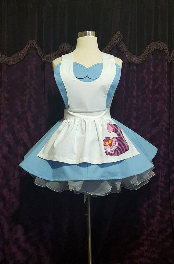 Wonderland Cosplay Retro Pin Up Apron by VioletPhoenixDesignz
