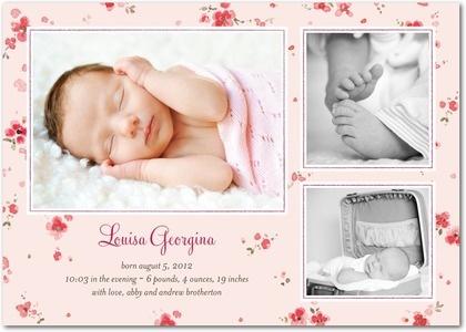 10 Best images about Birth Announcements – Pinterest Birth Announcement