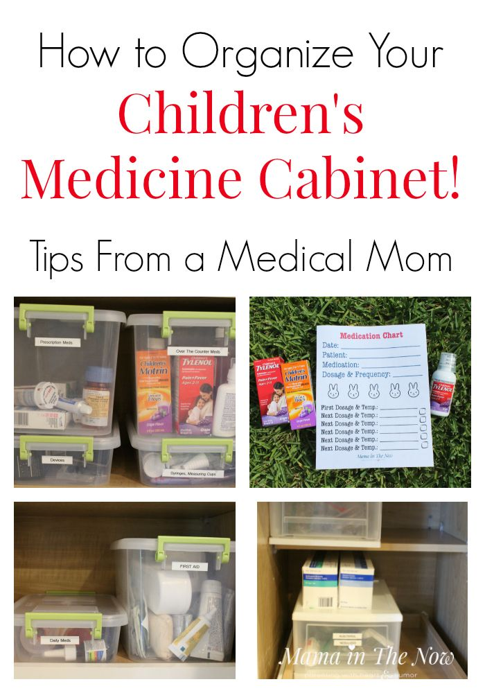 How to organize your children's medicine cabinet. Tips, tricks and hacks from a medical mom of four kids. Free printable to keep track of…