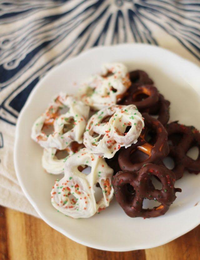 gf chocolate covered pretzel dark chocolate and white chocolate