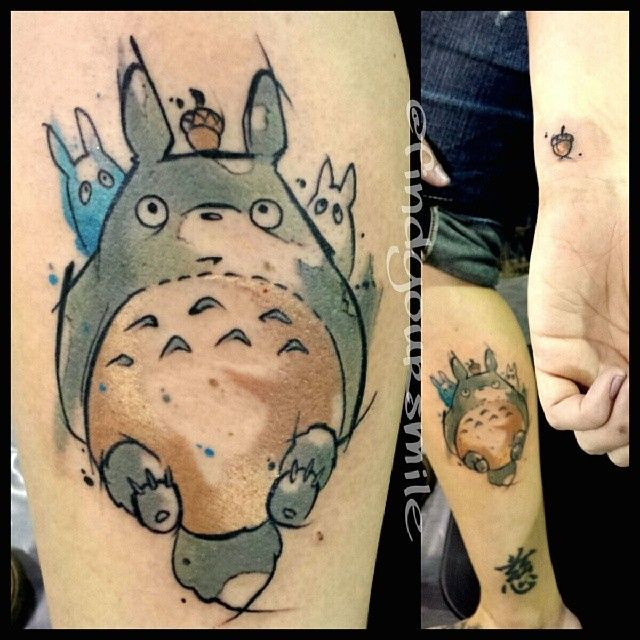 watercolor tattoo my neighbor totoro foreign things manga anime pinterest just love. Black Bedroom Furniture Sets. Home Design Ideas