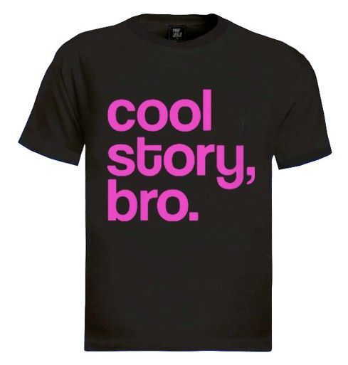 Cool Story Bro Pink T-Shirt Brand New 100% Cotton Standard