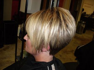 Stacked Bob Hairstyles Back View | Style them FaBuLoUs!: high layered a-line with tapered back