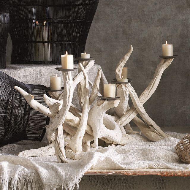 Driftwood candleabra