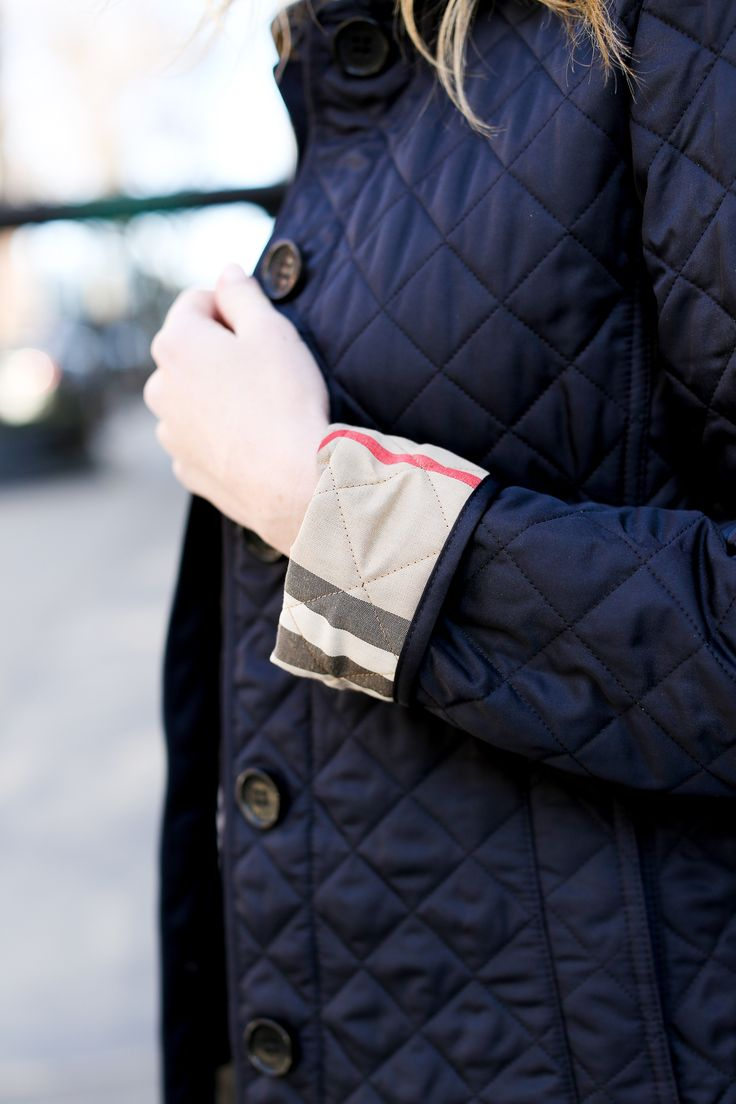 Burberry Quilted Navy Jacket